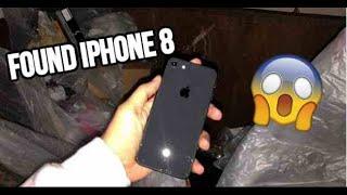 FOUND iPHONE 8!! FOUND DUMPSTER DIVING VERIZON STORE!!