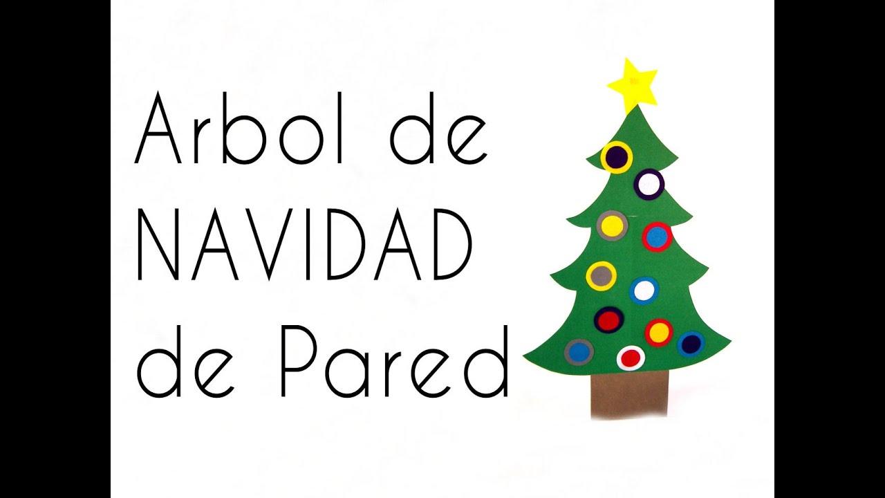 Manualidades arbol de navidad de pared youtube - Arbol de navidad de pared ...