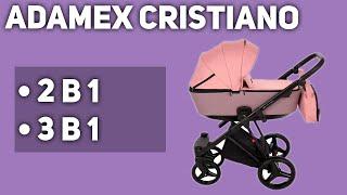 Универсальная коляска Adamex Cristiano 2 в 1 3 в 1