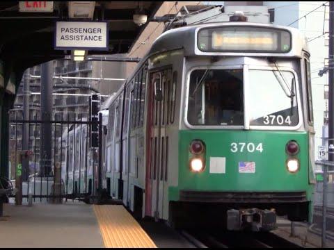 ᴴᴰ MBTA Green Line Action at Science Park