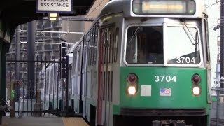 ᴴᴰ MBTA Green Line Action at Science Park