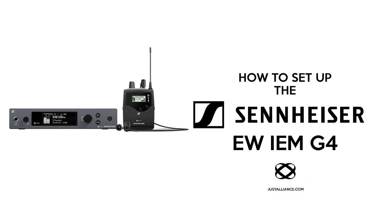 Sennheiser EW IEM G4 Tutorial Overview (Unboxing, Set Up, Sync)