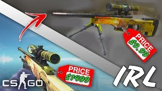 CS:GO SKINS IN REAL LIFE! feat. Dragon Lore, Howl, Vulcan