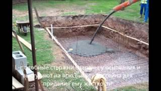 видео Этапы строительства бассейнов из бетона