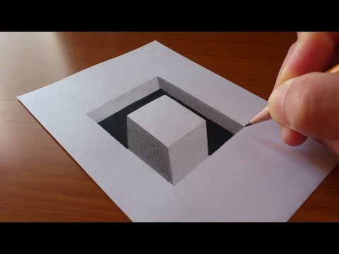 Very Easy!! How To Draw 3D Rectangular Hole