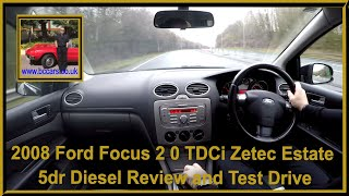 Virtual Video Test Drive in our Ford Focus 2 0 TDCi Zetec Estate 5dr Diesel