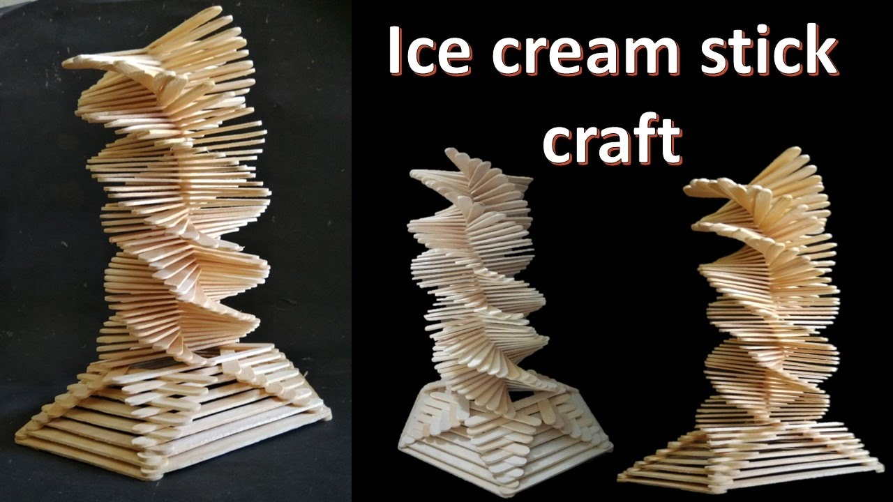 How to make Ice cream stick craft || decoration tower ...