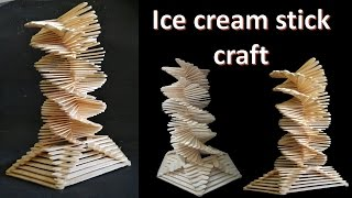 How to make Ice cream stick craft || decoration tower || DIY || Popsicle stick craft