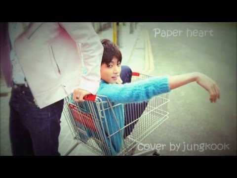 Junkook BTS Paper Hearts Cover By Jungkook