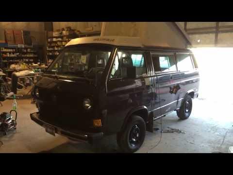 Gutting The 1985 Vanagon Westfalia Camper Van. Kitchen Removal.