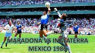 Maradona vs Inglaterra 1986 ●Todas las jugadas - Relatos Victor Hugo Morales●