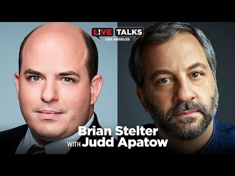 Brian Stelter with Judd Apatow at Live Talks Los Angeles