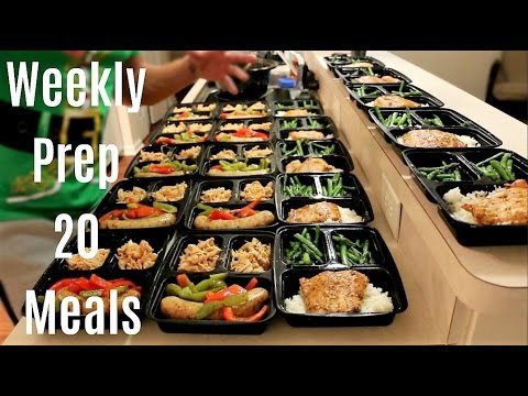 Vlogmas Episode 3 - Weekly Meal Prep 20 MEALS - Shoulder and Ab Workout - New Pre Workout