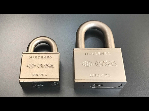 Взлом отмычками CISA 280/55 Padlock  [489] Cisa 280/55 Padlock Picked and Gutted ()