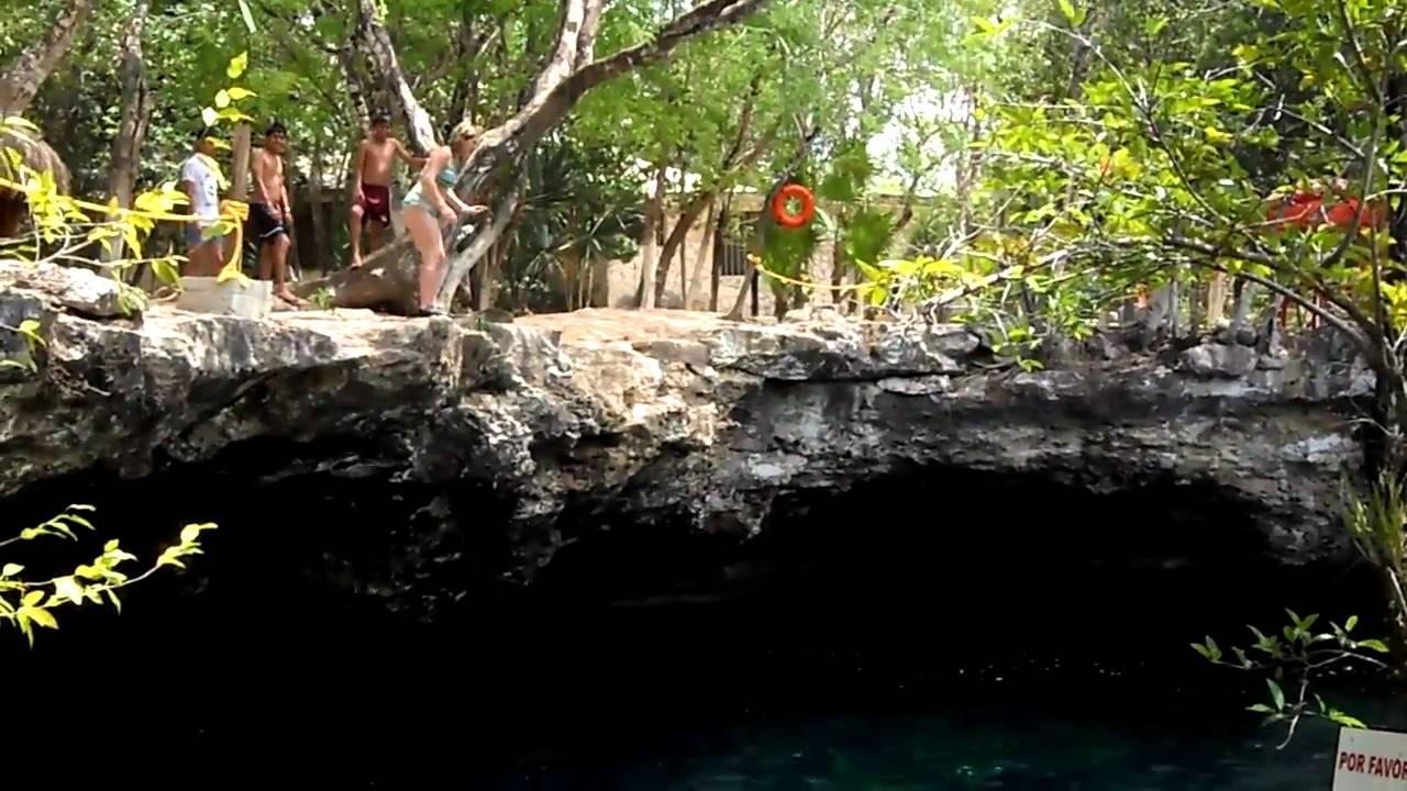 Cenote el jardin del eden in playa del carmen youtube for El jardin del eden
