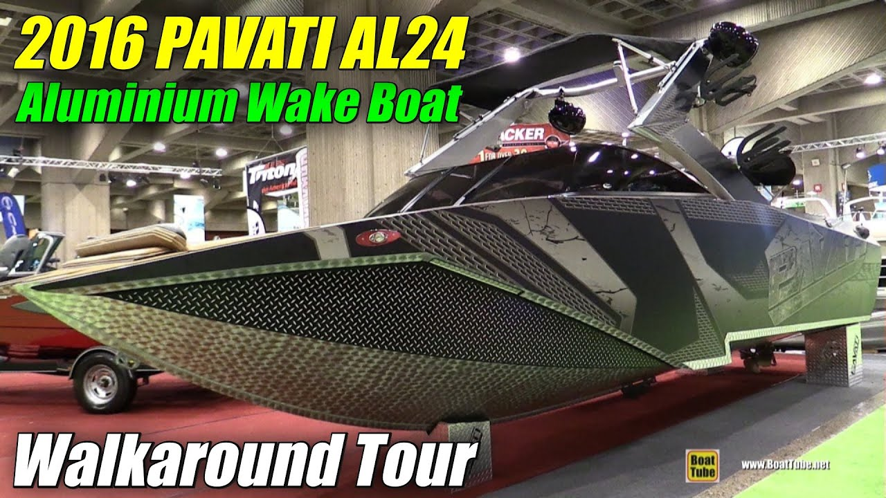 2016 pavati al24 aluminum wake boat walkaround 2016 for Aluminum fish and ski boats