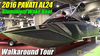 2016 Pavati AL24 Aluminum Wake Boat - Walkaround - 2016 Salon du Bateau Montreal