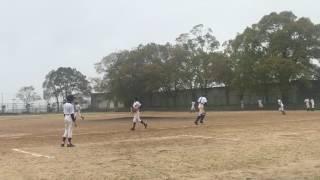 小野南中学校 野球部 2017.4.8 稲美中学校 投球3