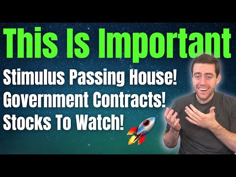 Stock Market News! New Government Contracts, Stimulus, Partnerships, Large Crypto Investments!