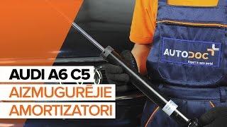 Kā nomainīt AUDI A6 C5 Aizmugurējie amortizatori [PAMĀCĪBA]