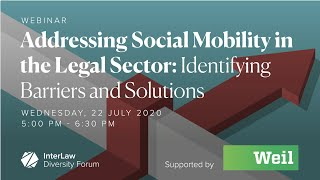 Addressing Social Mobility in the Legal Sector: Identifying Barriers and Solutions