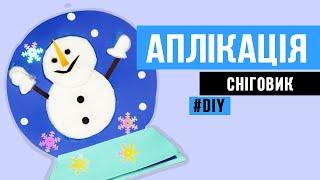 як зробити з ватних дисків сніговика