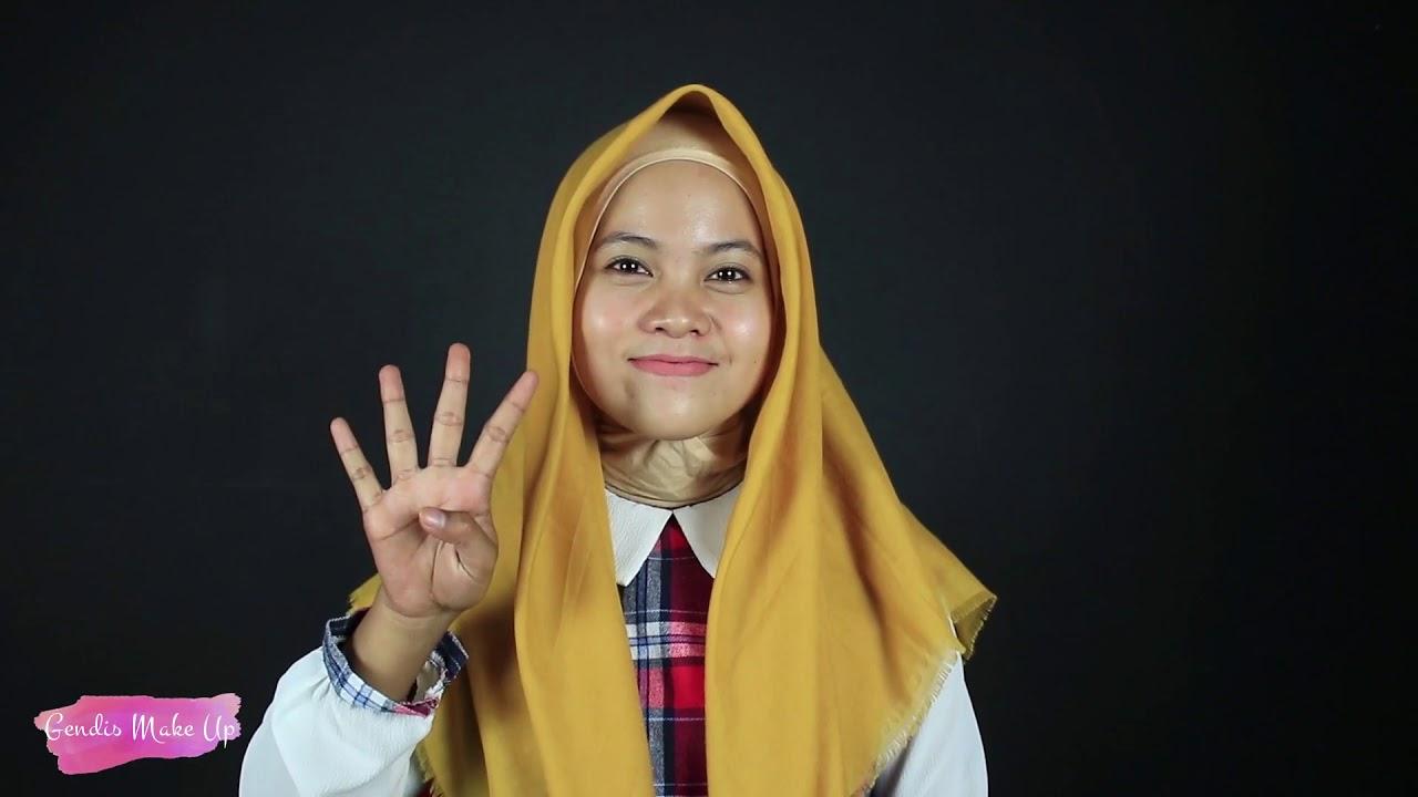 7 Tutorial Hijab Kekinian Segi Empat Rawis Simple Youtube