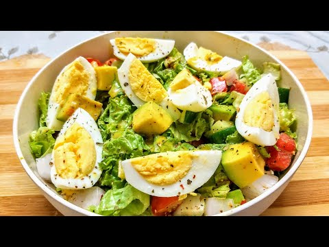 AVOCADO EGG SALAD | healthy salad for weight loss | keto salad | egg salad recipe | avocado salad