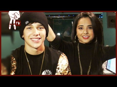 "Austin Mahone and Becky G Exclusive Recording of ""Magik"" for Smurfs 2"