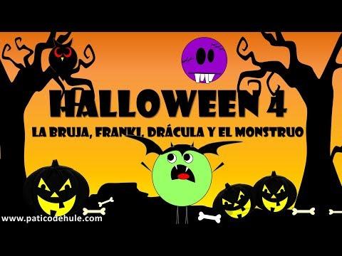 Hoy es Halloween - Cuentos de Halloween para niños: La bruja, el silbón, Drácula y el monstruo