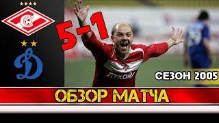 спартак 5-1 Динамо  2005 год  Видео обзор матча  Разгром!