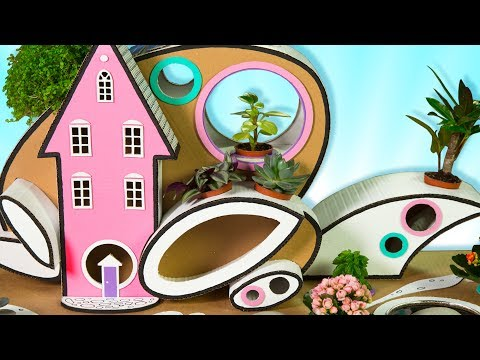 DIY Future House | Craft Ideas and Cardboard Houses for Kids on Box Yourself