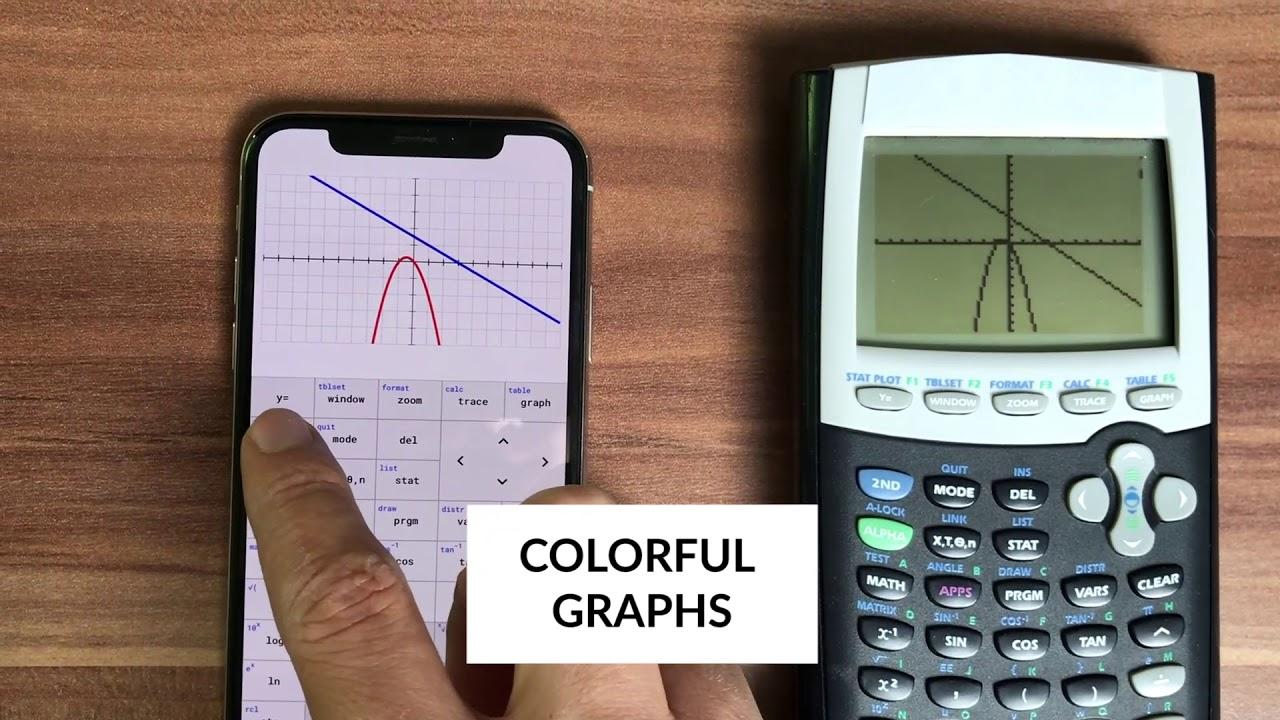 TI-84 calculator VS the new TI-84 app