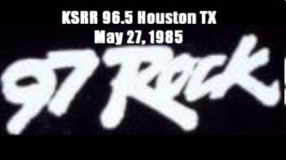 FM DX:  KSRR 96.5/97 Rock Houston TX  May 27, 1985 Part 2
