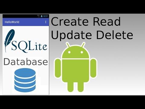 Android Studio - SQLite Database Create Read Update Delete with Prepared Statement Examples