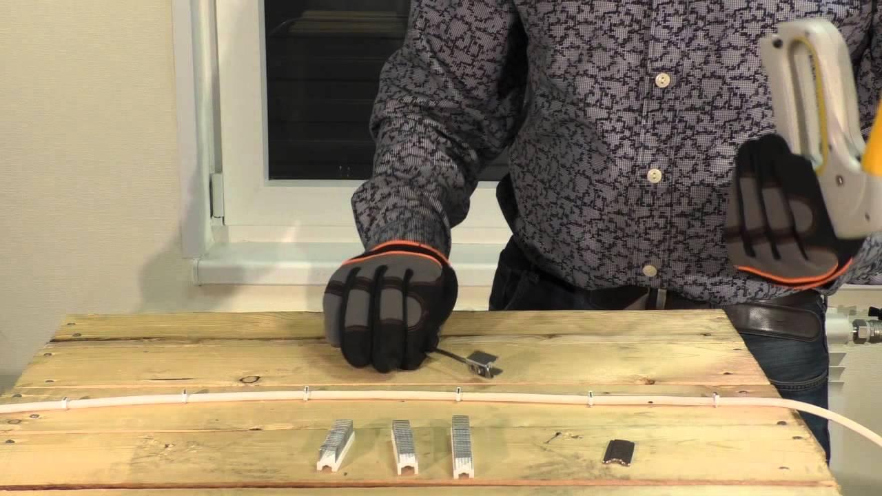 Степлер для крепления кабеля скобами