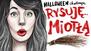 MIOTŁA VS RÓŻDŻKA - rysuję Czarownice na Halloween