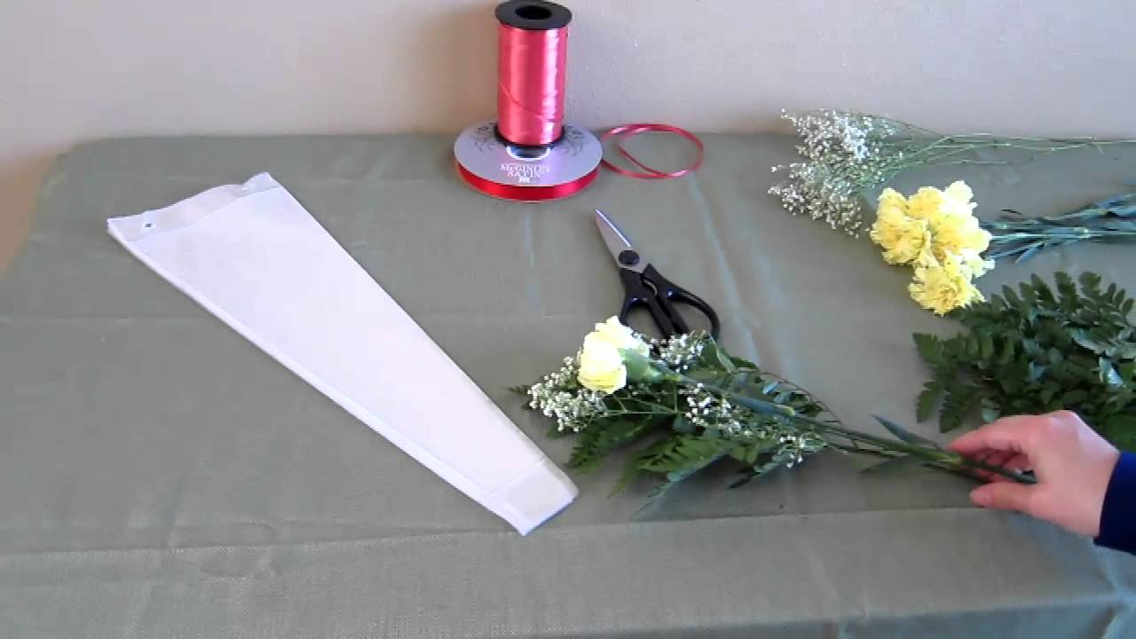 Single Flower Bouquet - YouTube