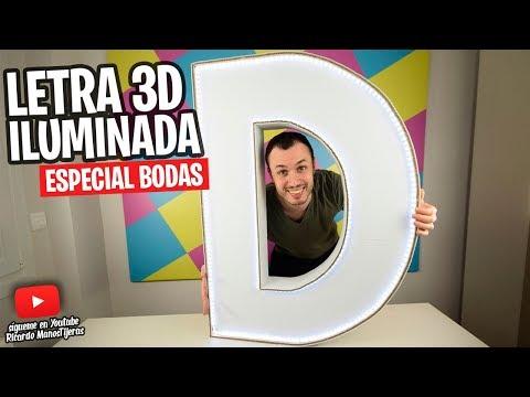 CÓMO HACER LETRAS 3D GIGANTES DE CARTÓN CON LUCES PARA DECORAR|Manualidades Reciclaje|DIY