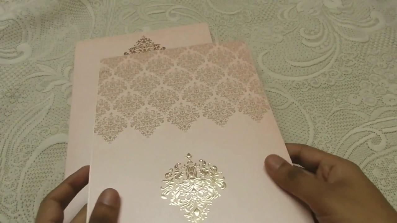 Hot Foil Embossed Design Wedding Invitation Card - YouTube