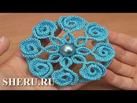 Crochet spider web lace tutorial 23 1 2 - How To Crochet 6 Petal Flower 59 1 2