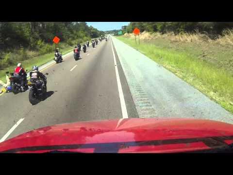 Motorcycle crash I 10 Alabama
