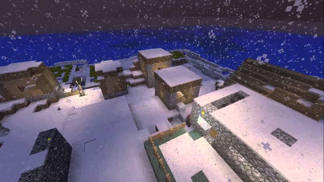 Download MINECRAFT NPC VILLAGE IN SNOW BIOM XBOX 360