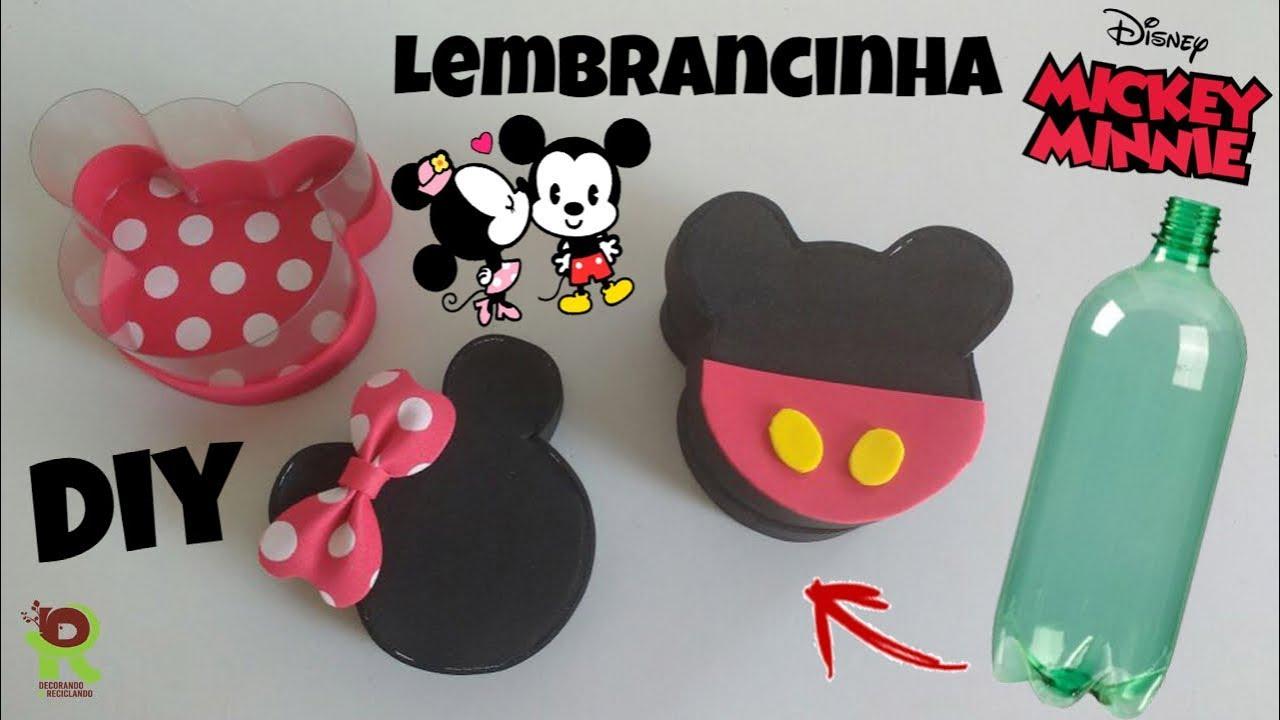 DIY Lembrancinha do Mickey e Minnie com garrafa pet Feat