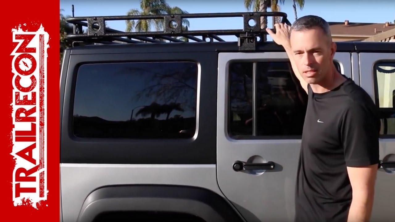 smittybilt defender roof rack installation jeep wrangler jk