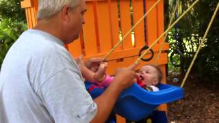 Dad Pushes Tasha Luna In Baby Swing Little Tikes