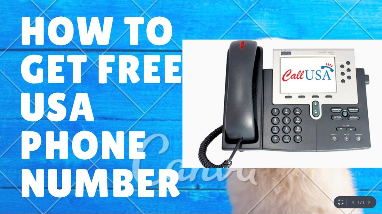 How to get free USA phone number FREE - YouTube