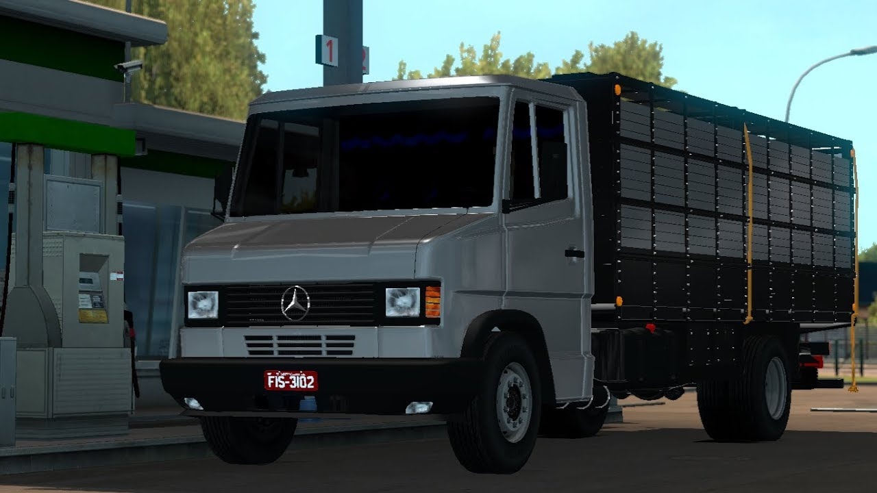 1 30 Euro Truck Simulator 2 Mercedes Benz 710 Mods Youtube
