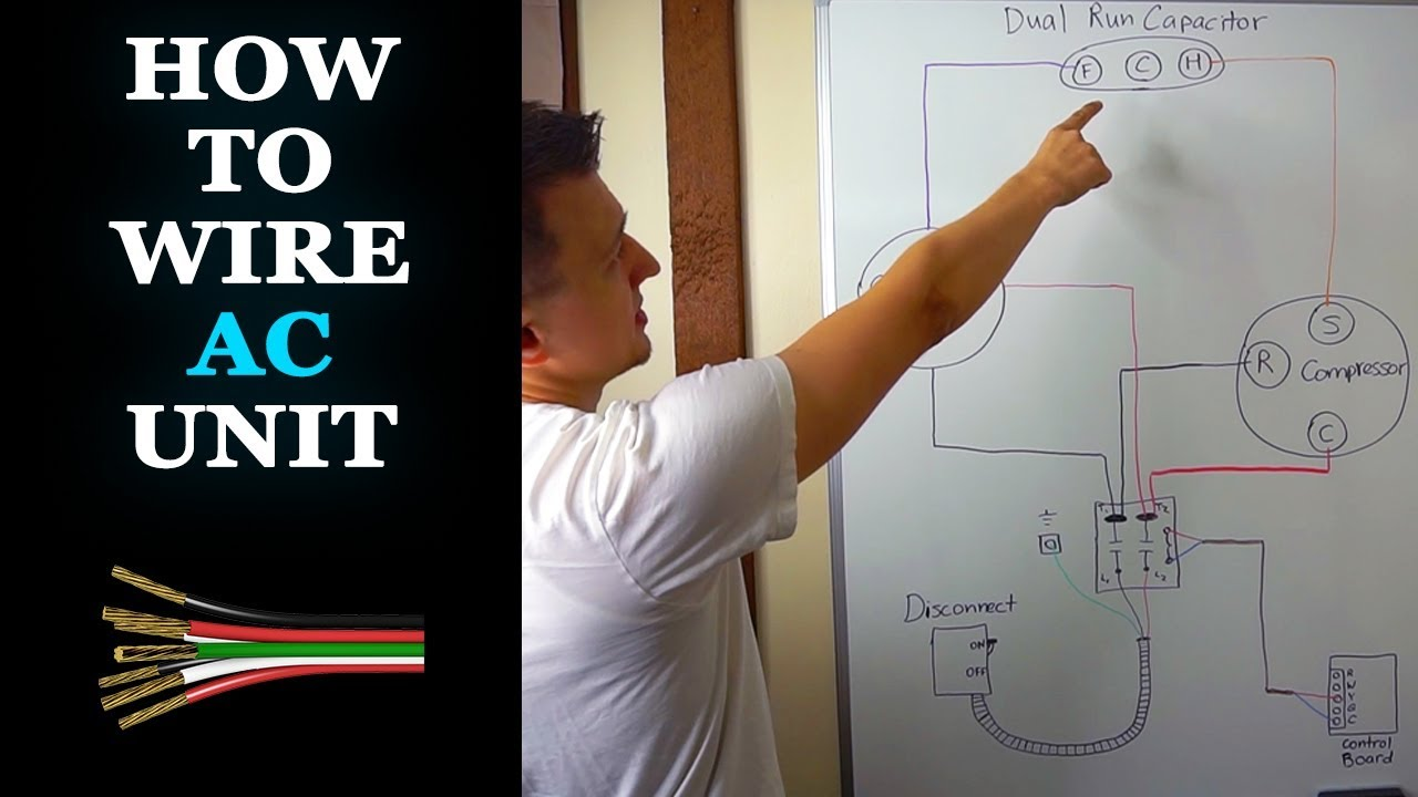 funny wiring schematics how to wire ac unit youtube  how to wire ac unit youtube