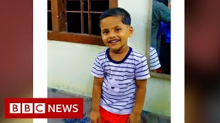 Kerala floods: 'Our son was buried by mud - we couldn't save him' - BBC News